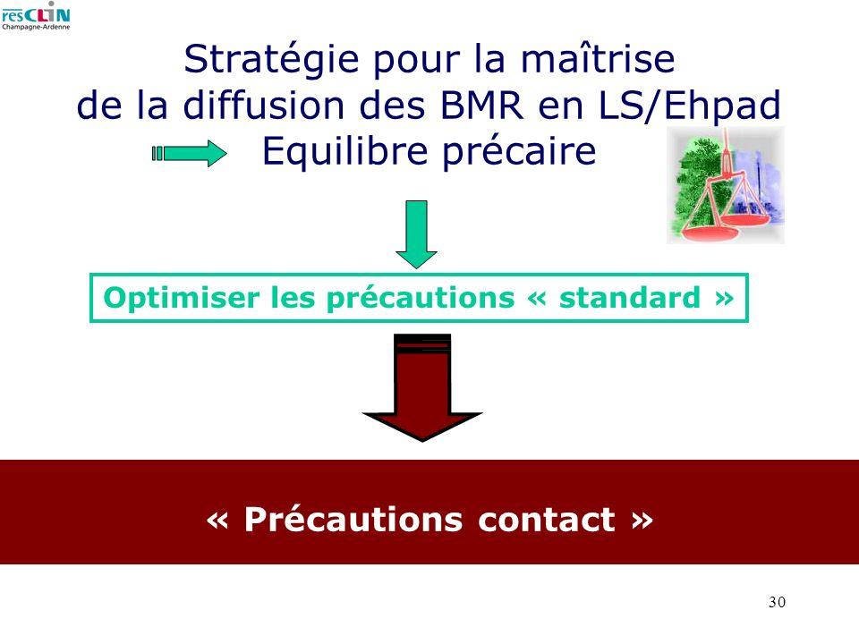 Stratégie pour la maîtrise de la diffusion des BMR en LS/Ehpad Equilibre précaire