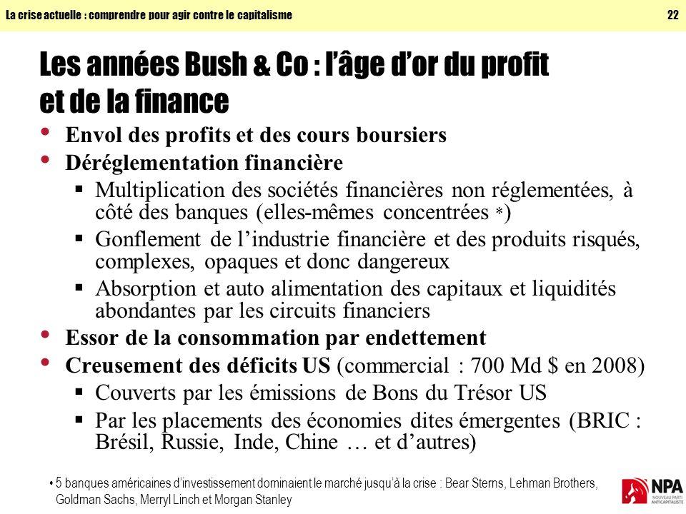 Les années Bush & Co : l'âge d'or du profit et de la finance