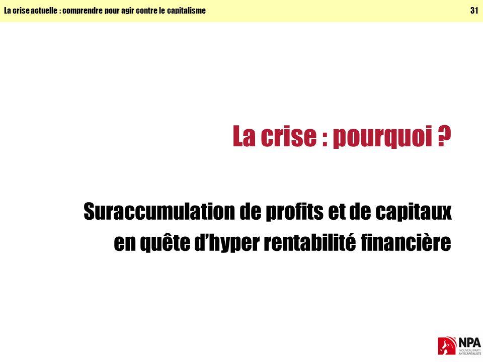 La crise : pourquoi Suraccumulation de profits et de capitaux