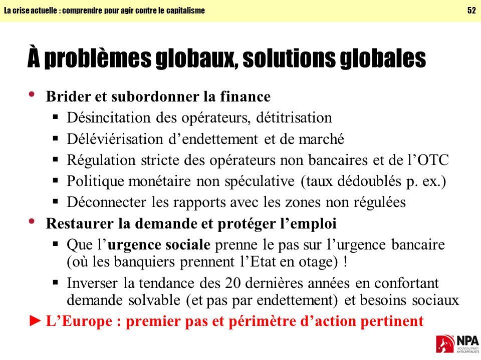 À problèmes globaux, solutions globales