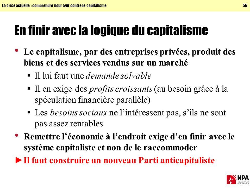 En finir avec la logique du capitalisme