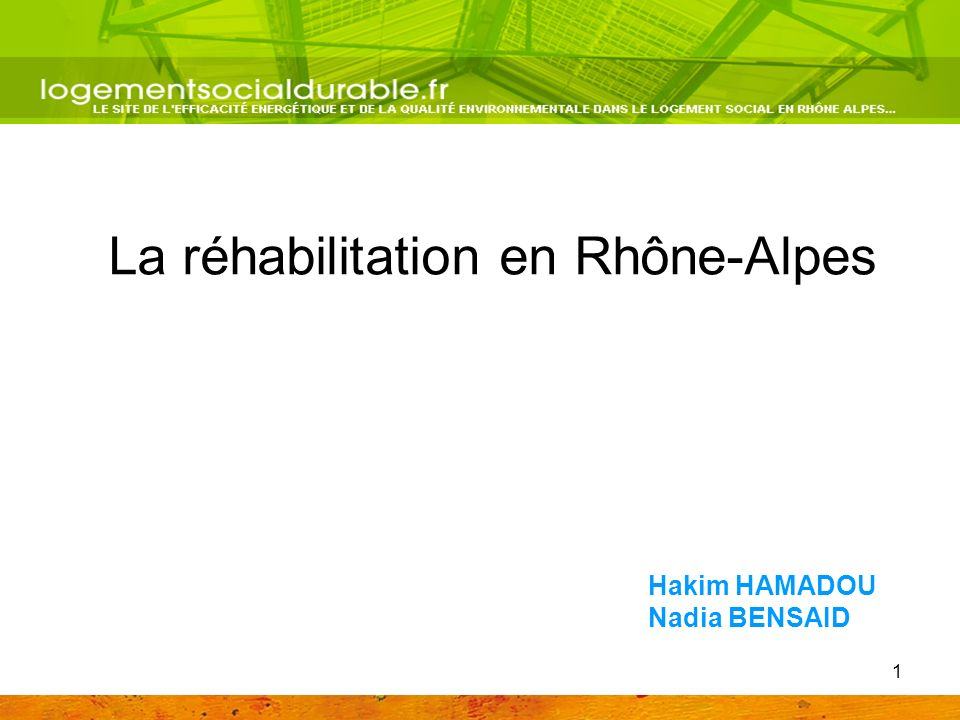 La réhabilitation en Rhône-Alpes