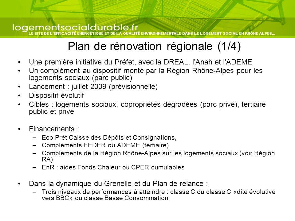 Plan de rénovation régionale (1/4)