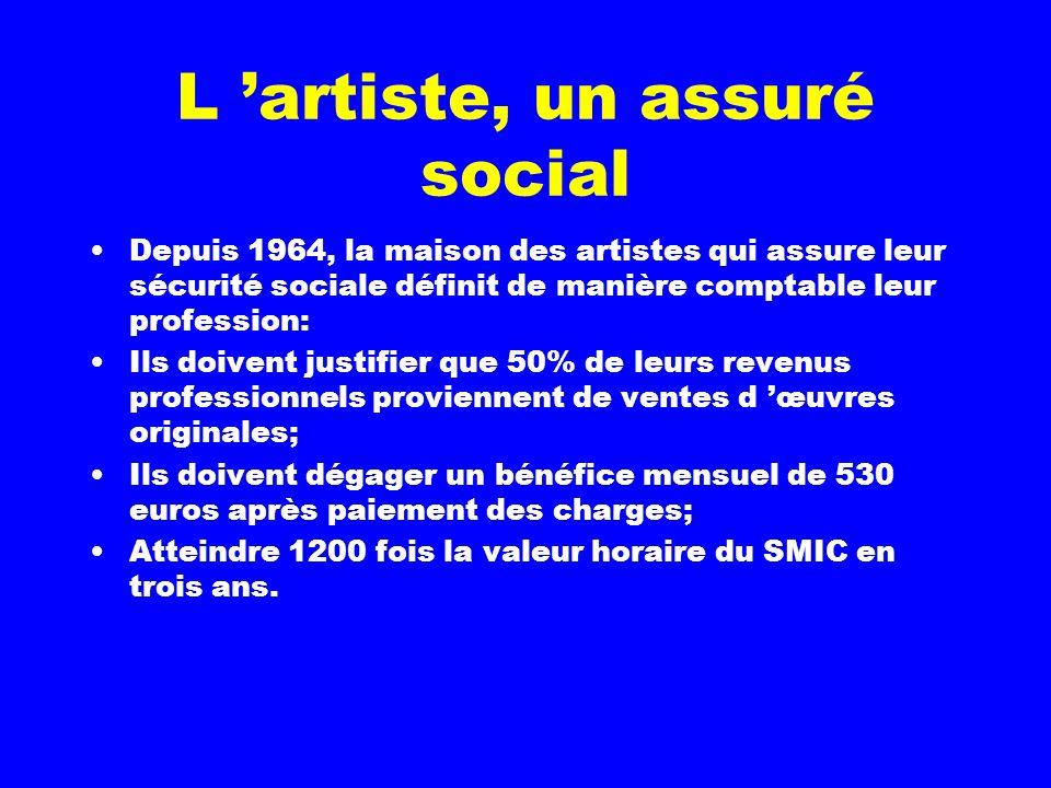 L 'artiste, un assuré social