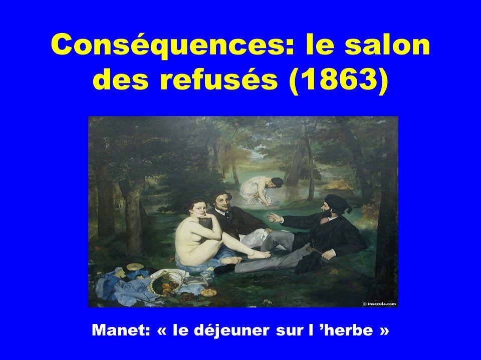 Conséquences: le salon des refusés (1863)