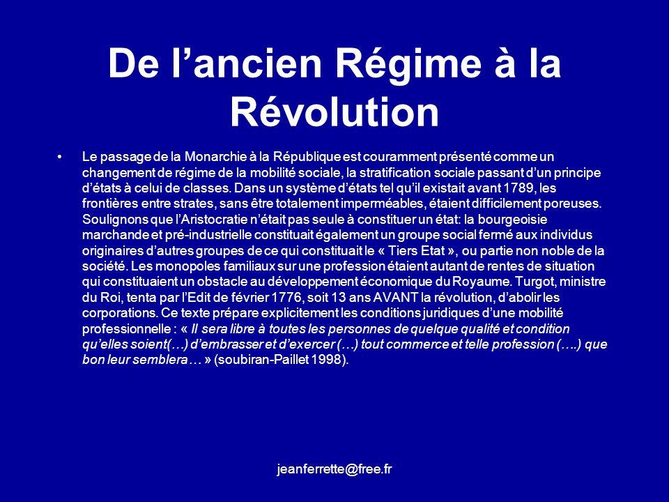 De l'ancien Régime à la Révolution