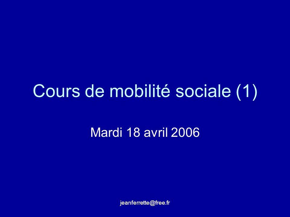 Cours de mobilité sociale (1)