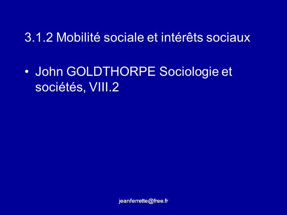 3.1.2 Mobilité sociale et intérêts sociaux