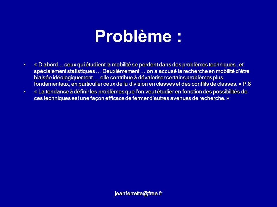 Problème :