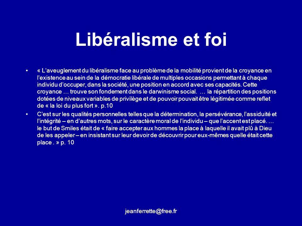 Libéralisme et foi