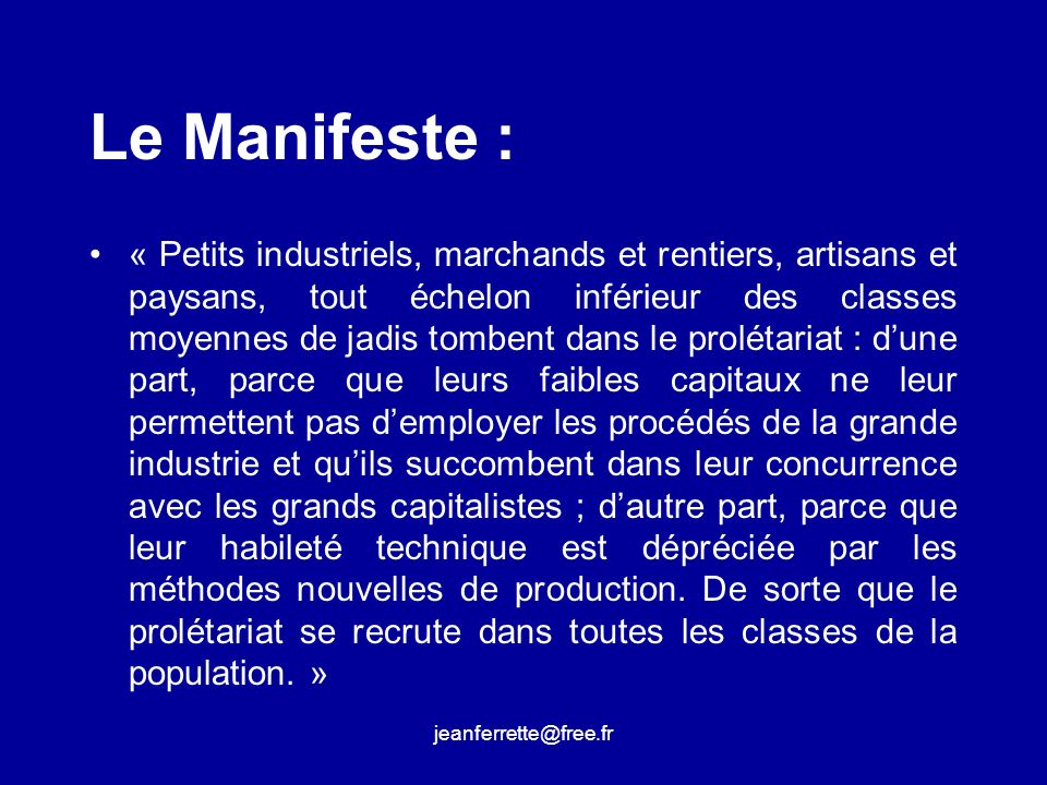 Le Manifeste :