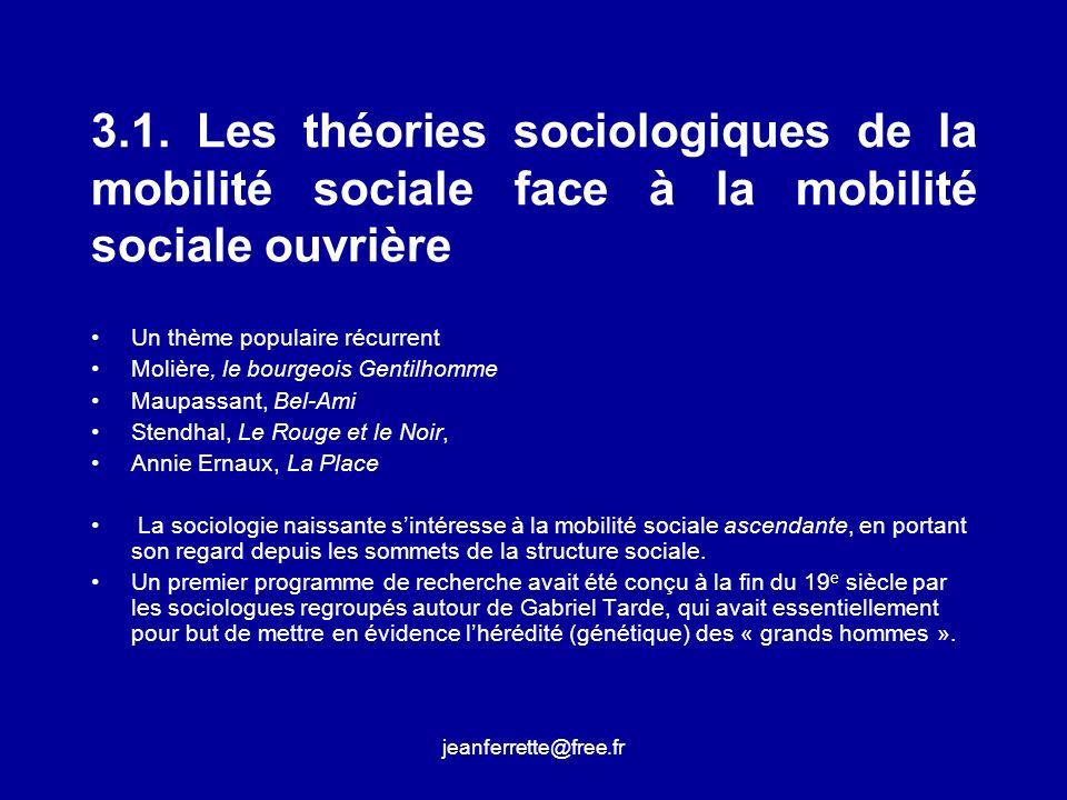 3.1. Les théories sociologiques de la mobilité sociale face à la mobilité sociale ouvrière