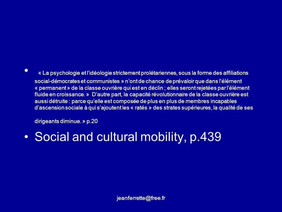 Social and cultural mobility, p.439