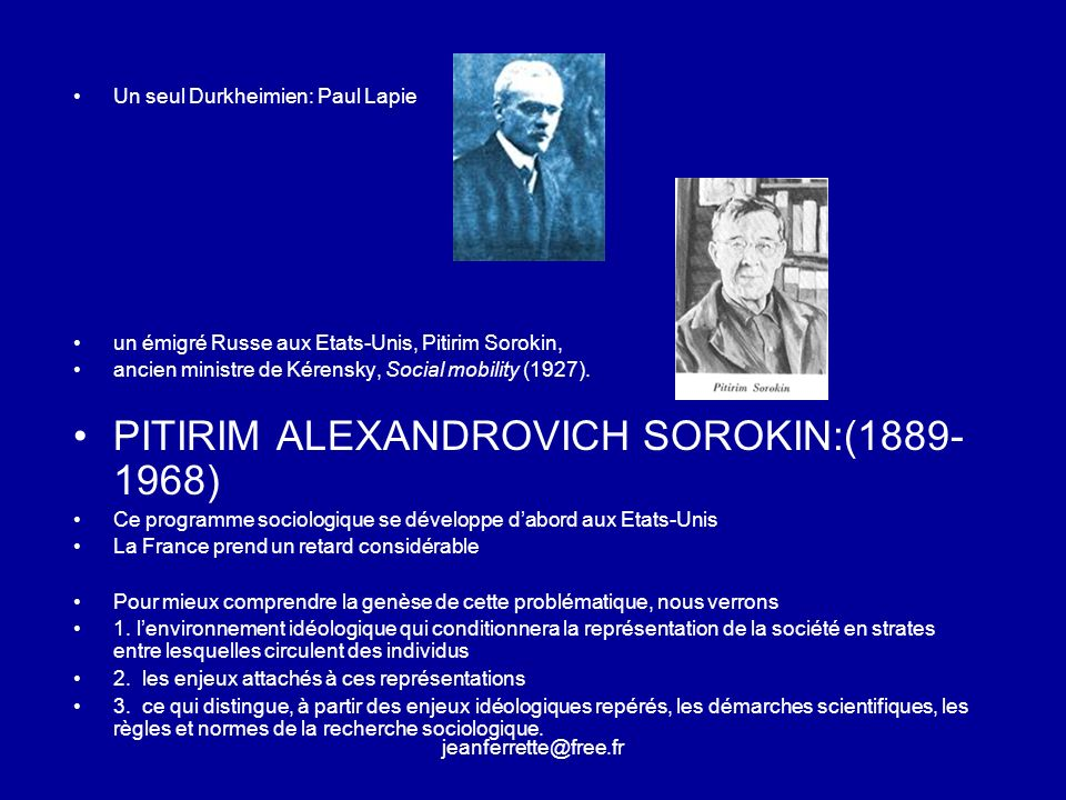 PITIRIM ALEXANDROVICH SOROKIN:(1889-1968)