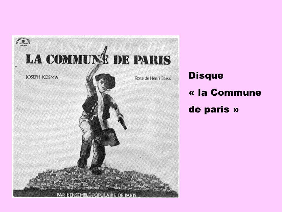 Disque « la Commune de paris »