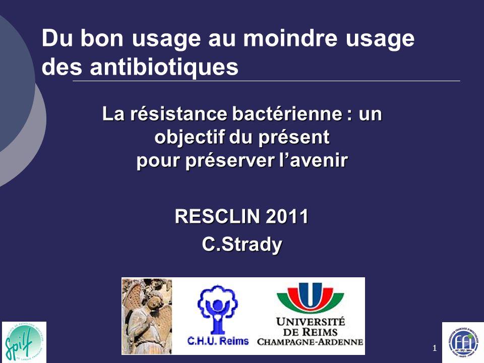 Du bon usage au moindre usage des antibiotiques