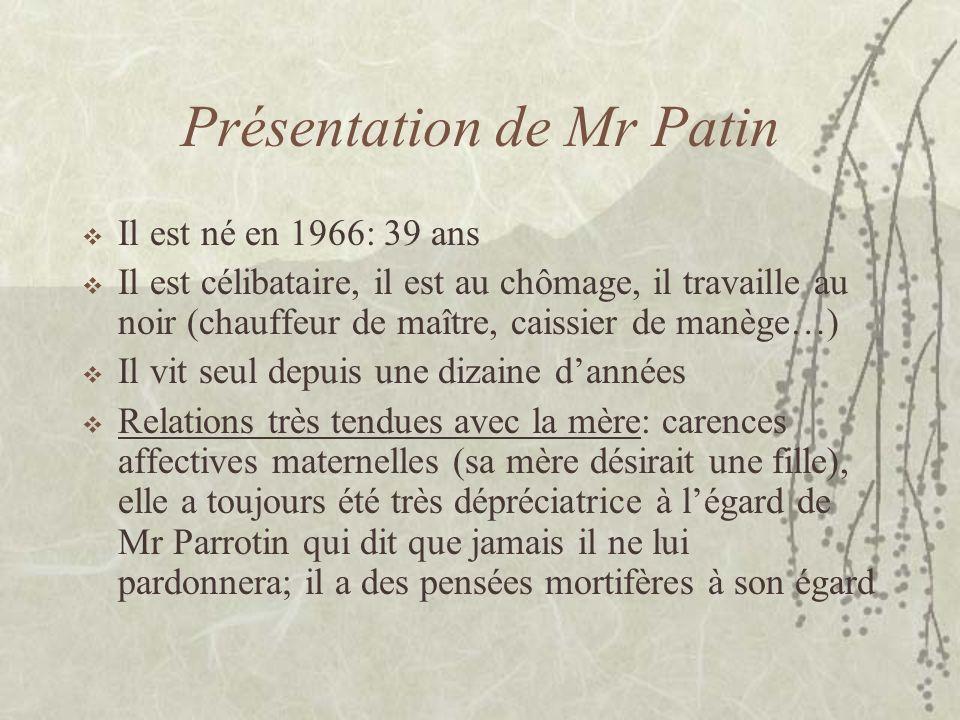 Présentation de Mr Patin