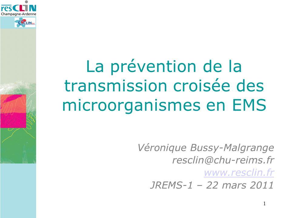 La prévention de la transmission croisée des microorganismes en EMS