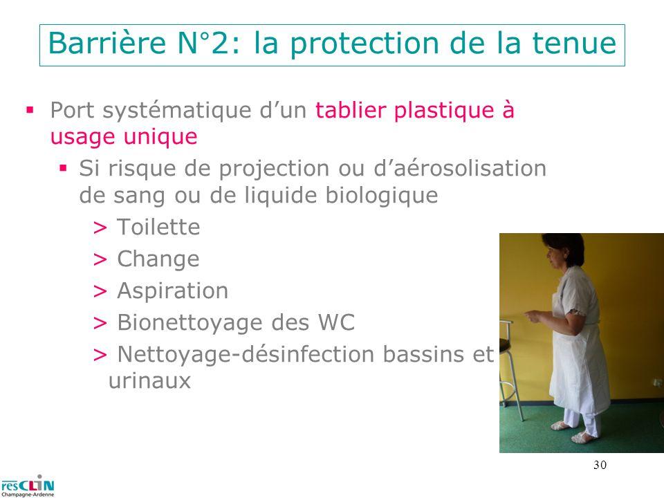 Barrière N°2: la protection de la tenue