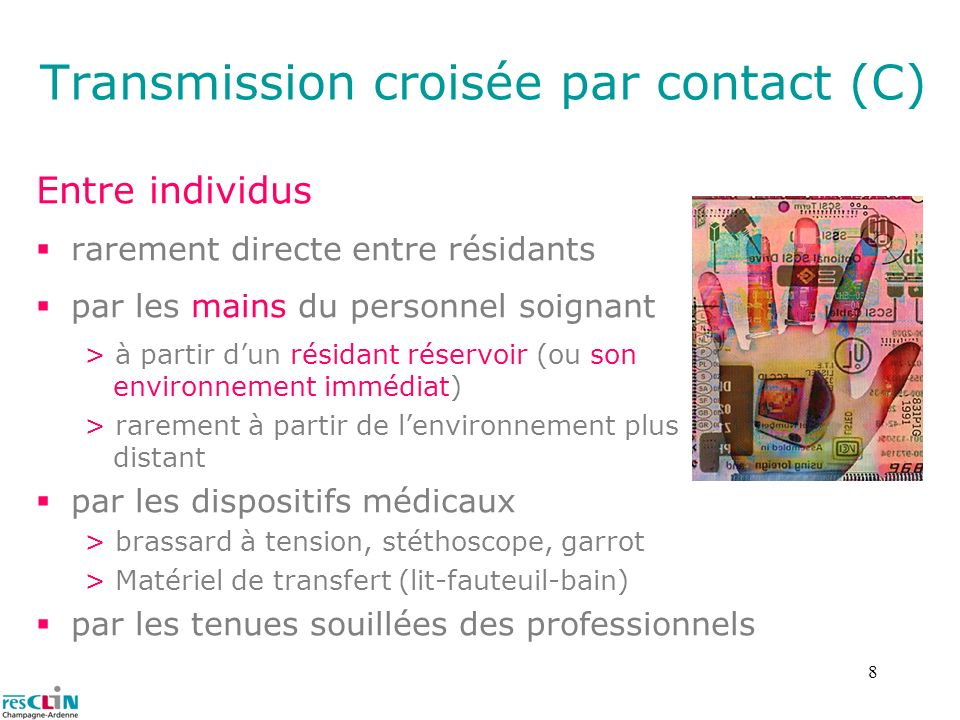 Transmission croisée par contact (C)