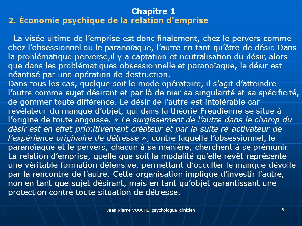 Jean-Pierre VOUCHE psychologue clinicien
