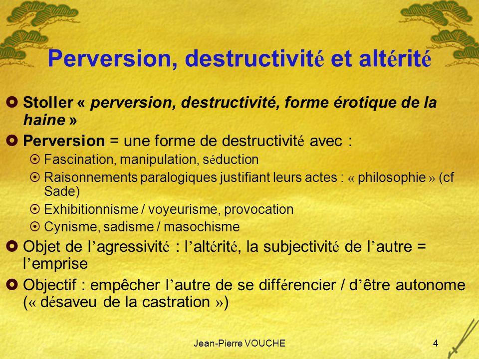 Perversion, destructivité et altérité
