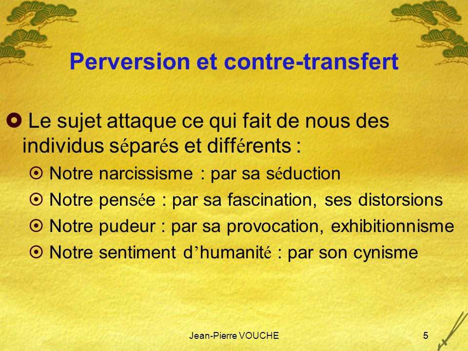 Perversion et contre-transfert