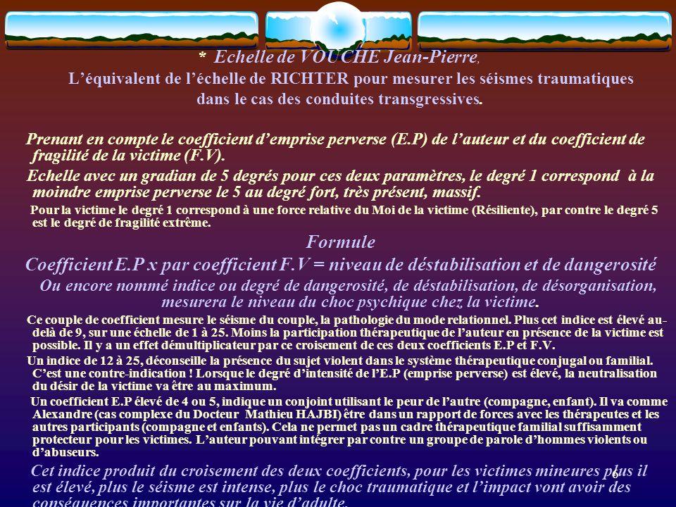 * Echelle de VOUCHE Jean-Pierre,