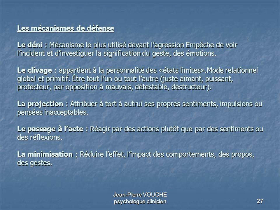 Jean-Pierre VOUCHE psychologue clinicien