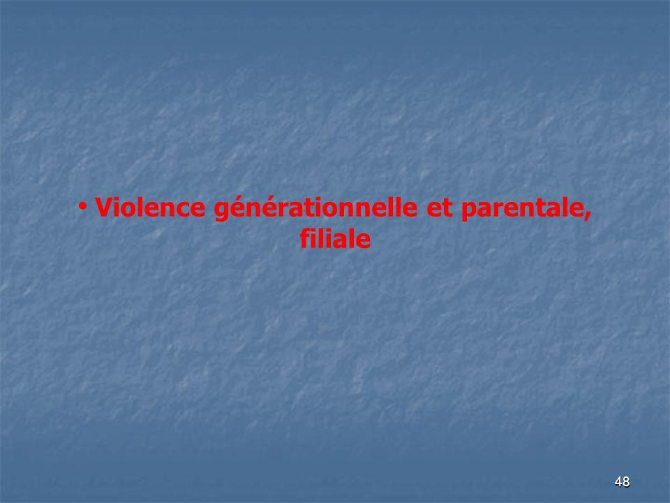Violence générationnelle et parentale, filiale