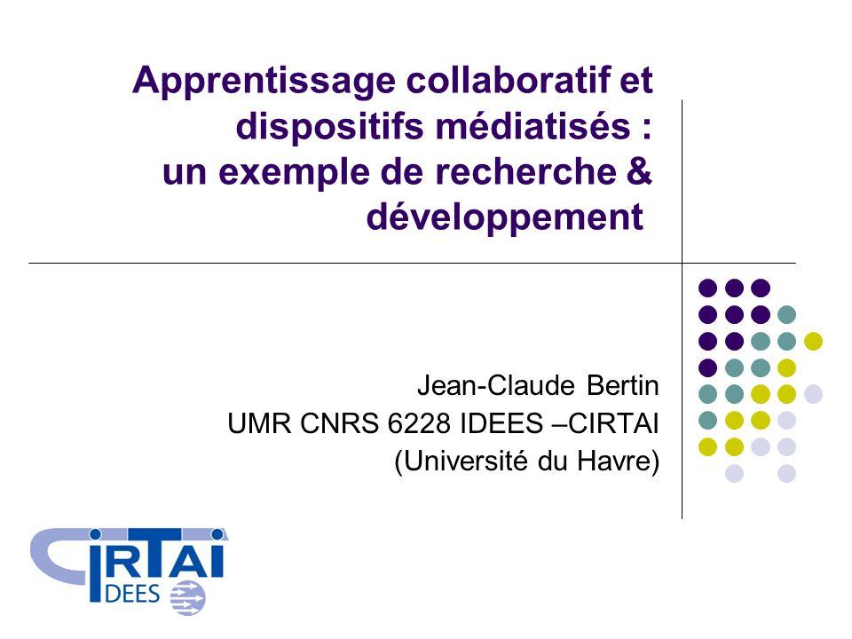 Jean-Claude Bertin UMR CNRS 6228 IDEES –CIRTAI (Université du Havre)