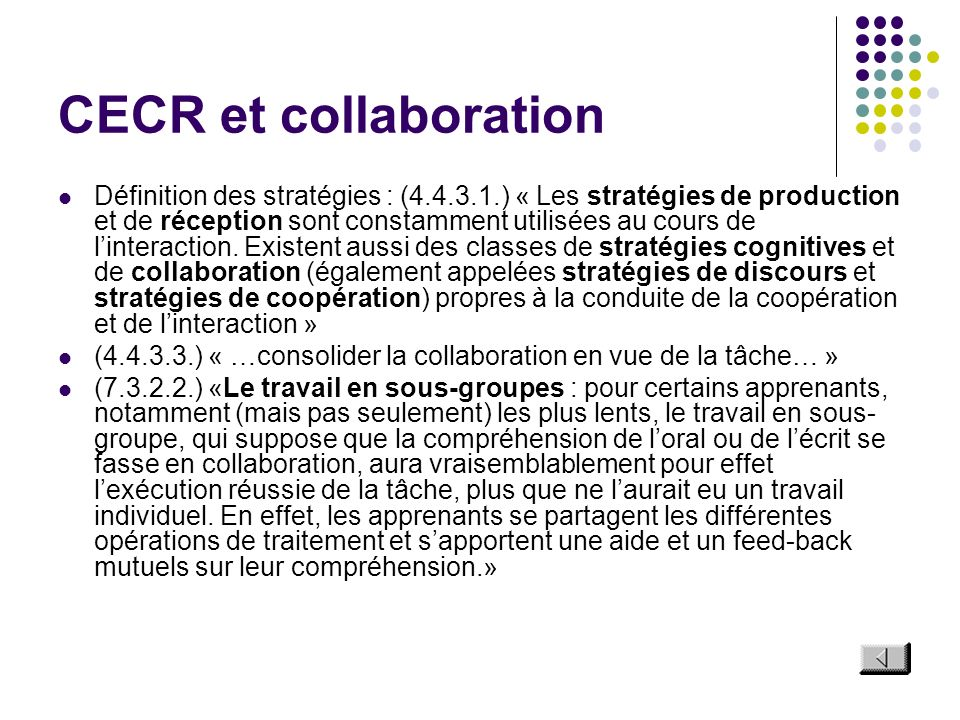 CECR et collaboration