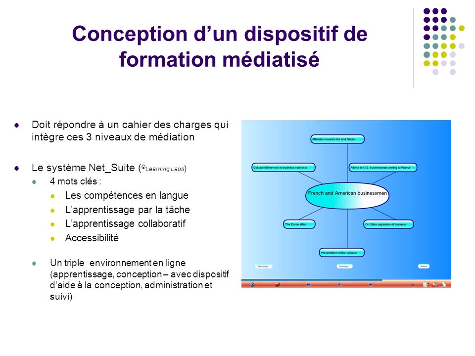Conception d'un dispositif de formation médiatisé