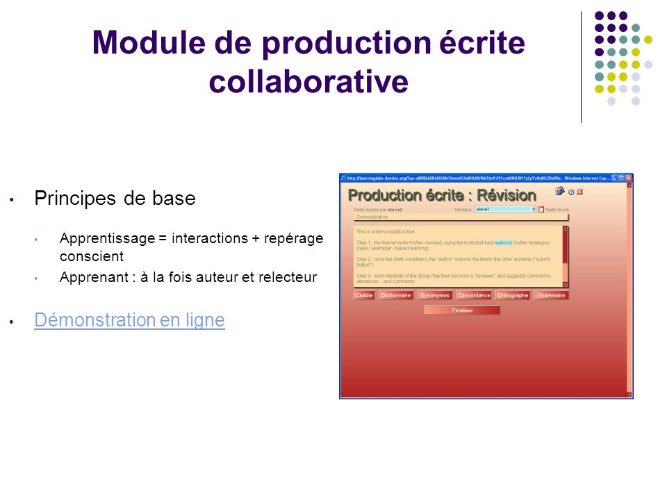 Module de production écrite collaborative