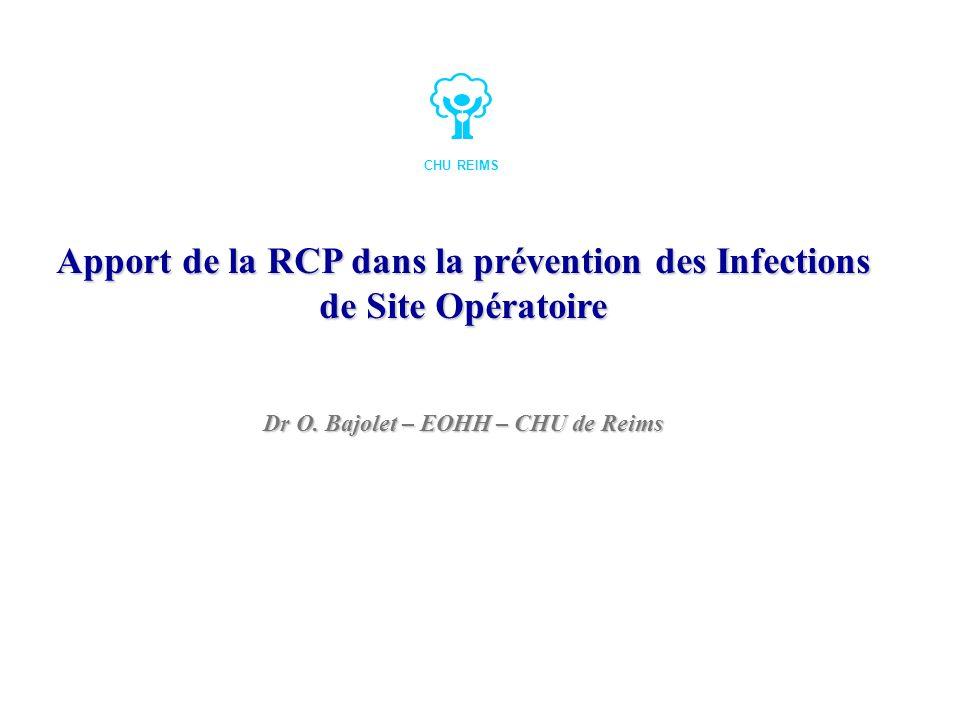 Apport de la RCP dans la prévention des Infections de Site Opératoire