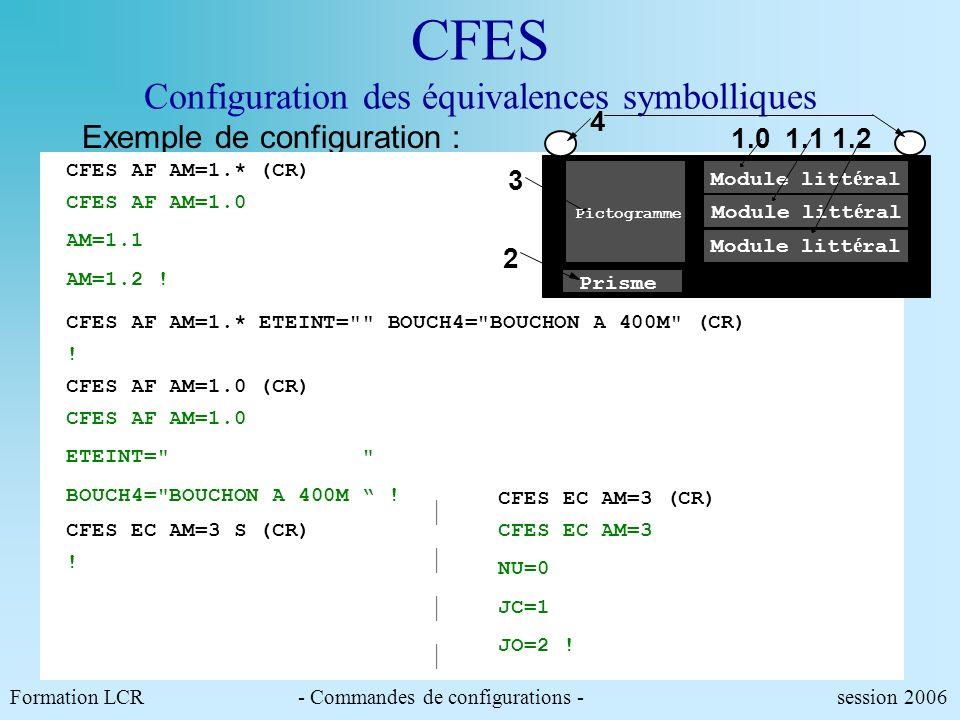 CFES Configuration des équivalences symbolliques