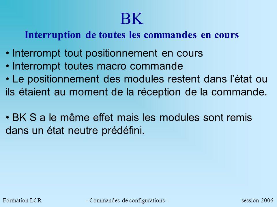 BK Interruption de toutes les commandes en cours