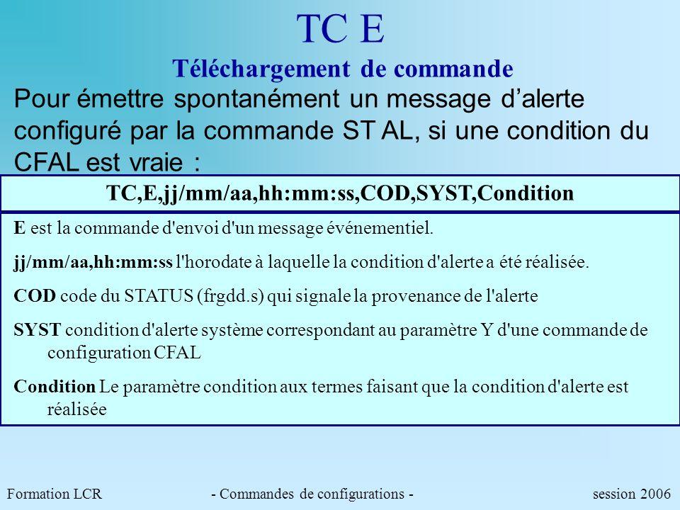 TC E Téléchargement de commande