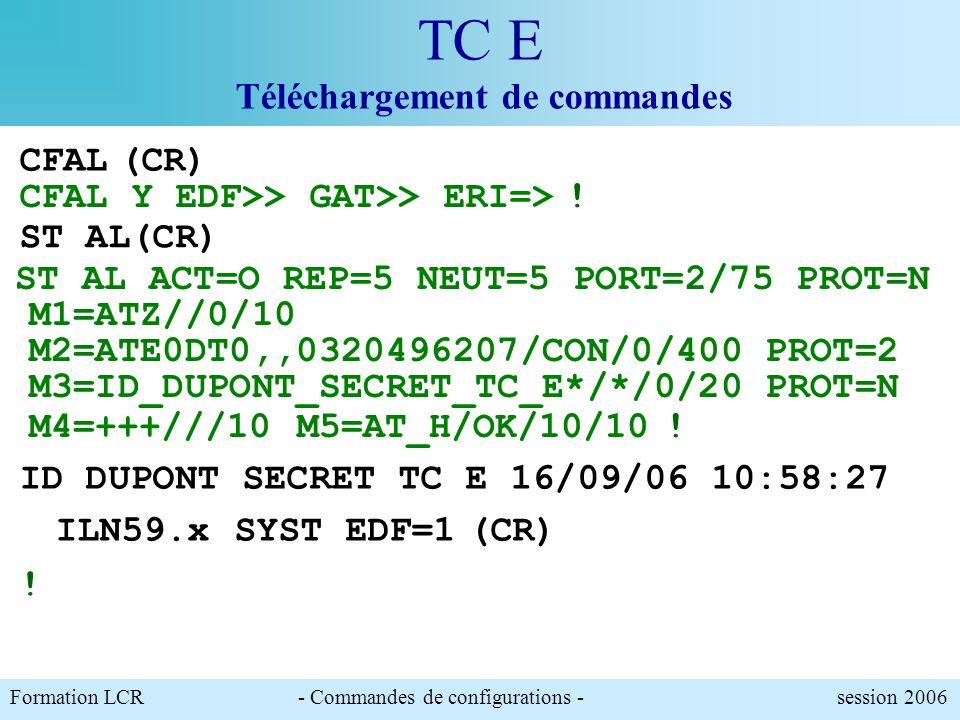 TC E Téléchargement de commandes