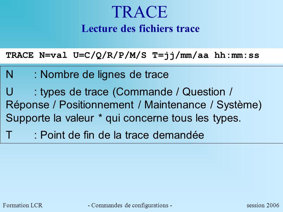 TRACE Lecture des fichiers trace