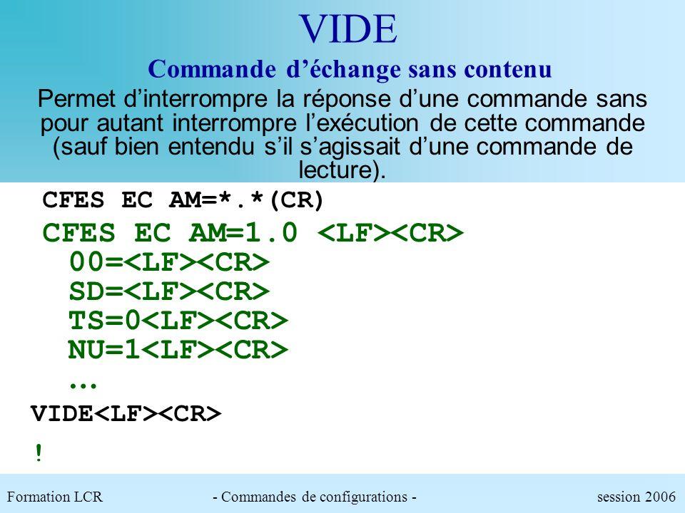 VIDE Commande d'échange sans contenu