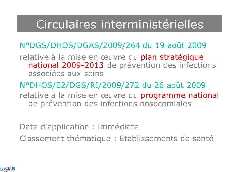 Circulaires interministérielles