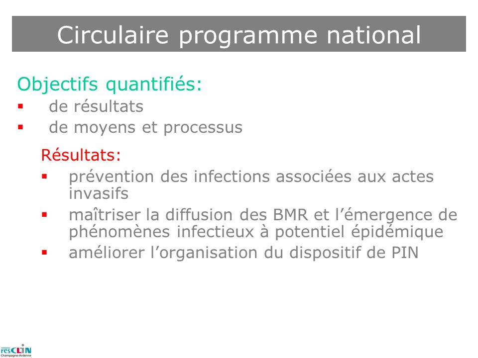 Circulaire programme national