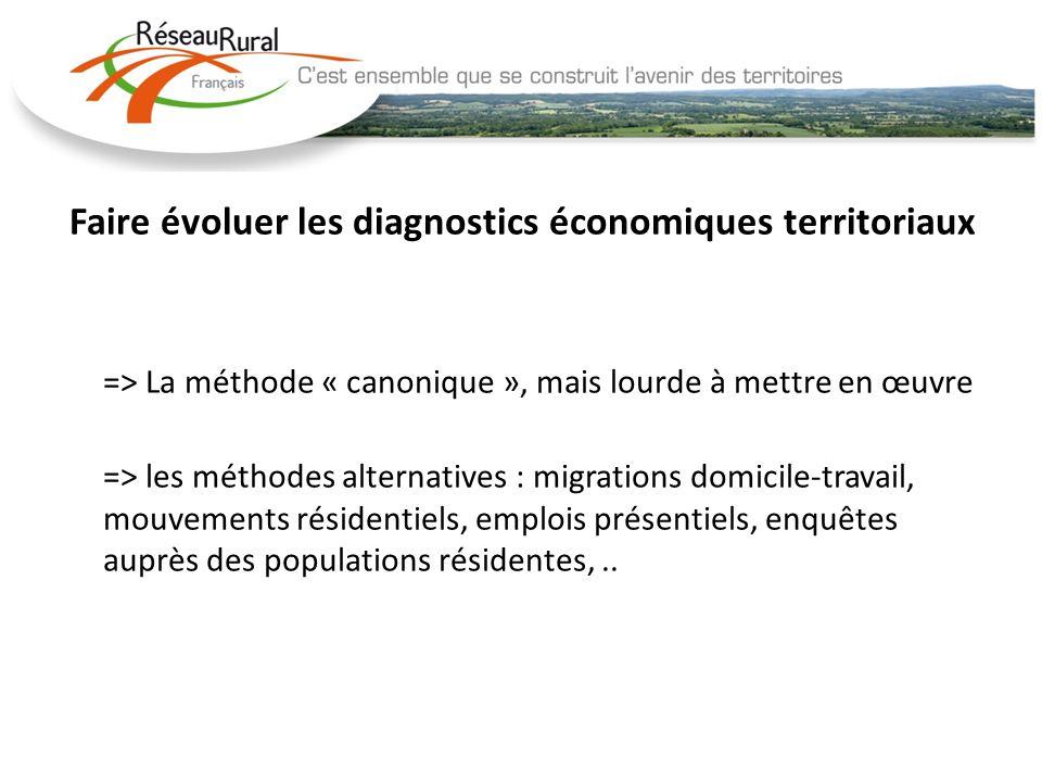 Faire évoluer les diagnostics économiques territoriaux