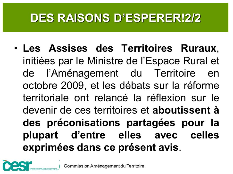 DES RAISONS D'ESPERER!2/2