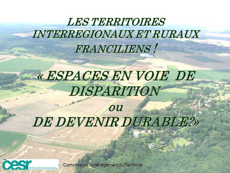 LES TERRITOIRES INTERREGIONAUX ET RURAUX FRANCILIENS
