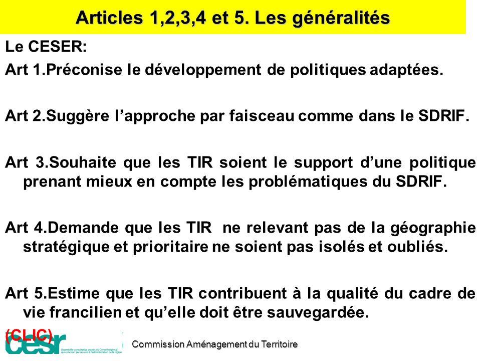 Articles 1,2,3,4 et 5. Les généralités