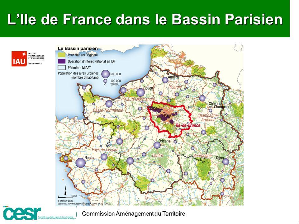 L'Ile de France dans le Bassin Parisien
