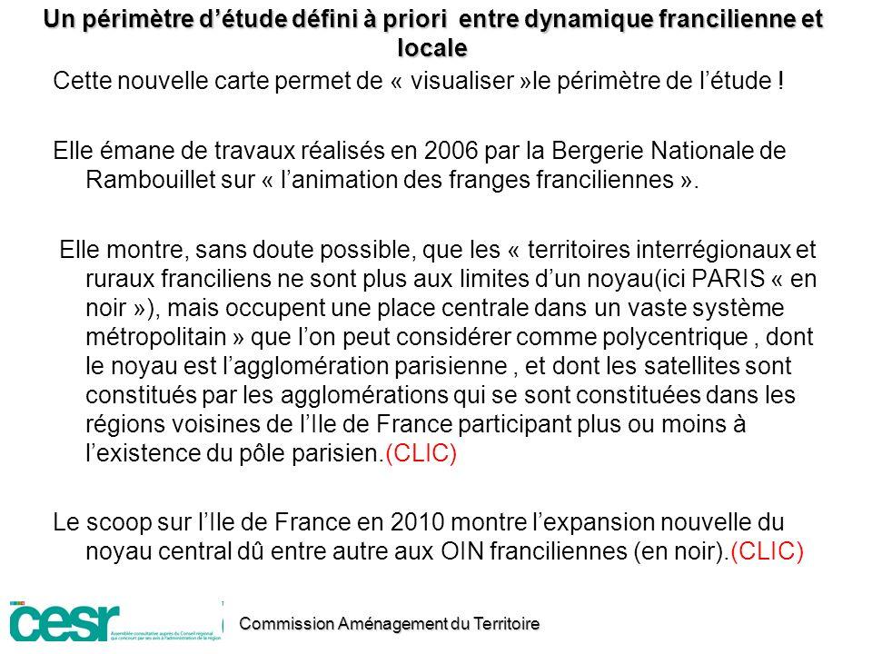 Un périmètre d'étude défini à priori entre dynamique francilienne et locale