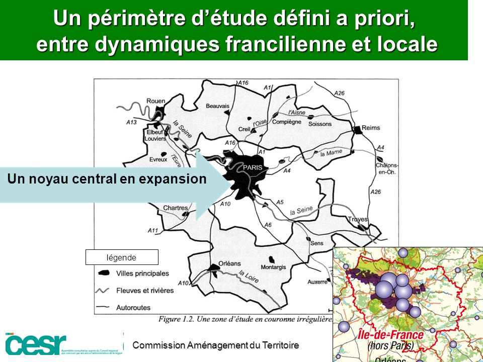 Un noyau central en expansion